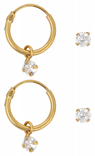 Ohr-Set - Gold Plated