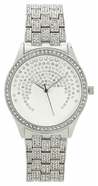 Horloge - Beautiful Silver Sparkle