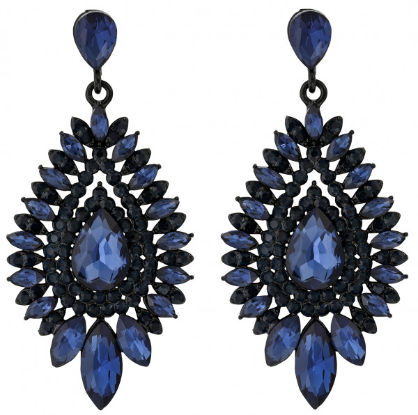 Pendientes largos - Magic Blue