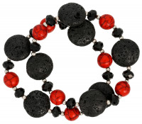 Armbanden set - Red Lava