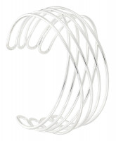Breed armband - Silver Twisted