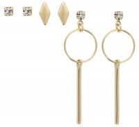 Ohrstecker-Set - Fine Gold
