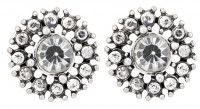 Earrings - Rhinestone / white