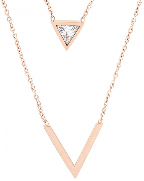 Ketting - Rosé Triangles