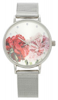Horloge - Metallic Flowers