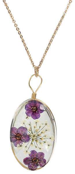 Collier - Purple Flower
