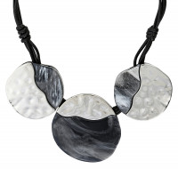 Collar - Hammered Marble