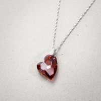 Collana - Red Sparkling Heart