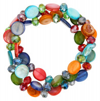 Conjunto de pulseras - Colorful Shells