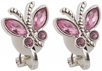 Kinder Earclips - Butterfly / pink