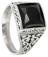 Anillo Hombre - Patterned Black