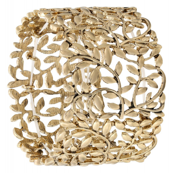 Armband breed - Golden Floral