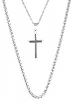 Herren Kette - Black Crossed