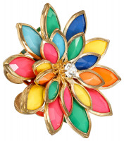 Anillo - Rainbow Flower
