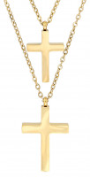Collier multi-rangs - Glossy Cross