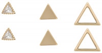 Oorknopjes set - Shiny Triangle