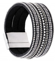 Braccialetto - Black and Bling
