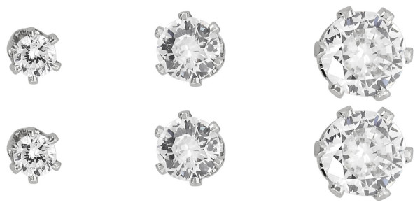 Set de pendientes - Clear Crystal