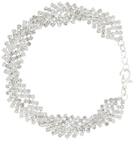 Armband - Wide Silver Sparkle