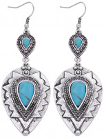 Drop Earrings - Turquoise