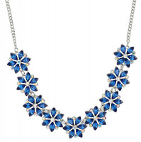 Ketting - Blue Flowers