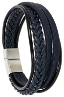 Herren Armband - Blue Leather