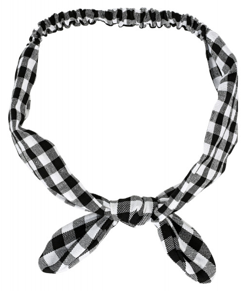 Bandeau pour cheveux - Checkered Bow