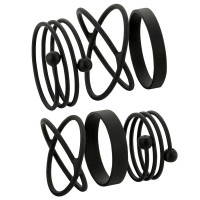 Ringen set - Black Graphics