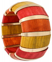 Armband - Coloured Wood