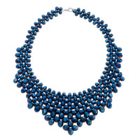 Kette - Metallic Blue