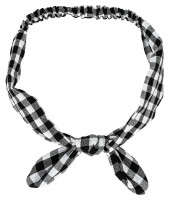 Fascia per capelli - Checkered Bow