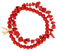 Armband-Set - Red Coral