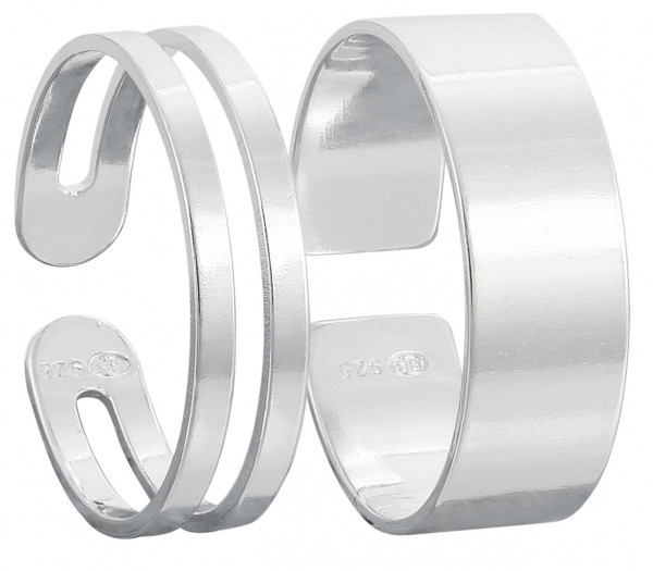 Set de anillo para dedo del pie - Changing Silver