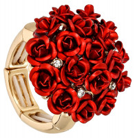 Ring - Bunch of Roses Red